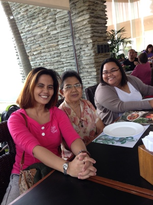 My sister, mom and me